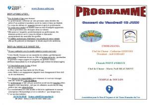 Programme du Concert du 12 juin 2015 - pages 1 et 4