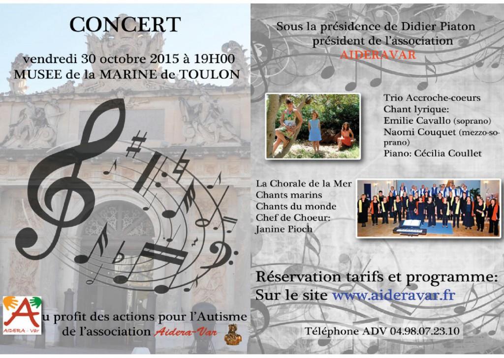 Affiche du concert du 30 octobre 2015